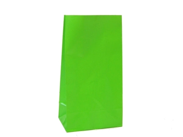 Party Bags | Paper | Lime Green | 12pk