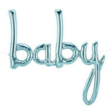 Baby Balloon Blue Script - Air Fill Only
