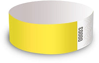 Yellow Wristbands - Packet of 10