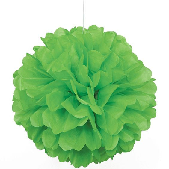 Tissue Paper Puff Ball | Lime Green | 40cm