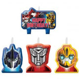 Transformers Candle Set Happy Birthday PK4