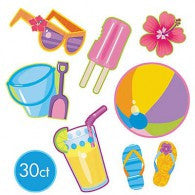 Beach Party Cutouts Summer Assortment
