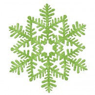 Glitter Snowflake Green Hanging Decoration