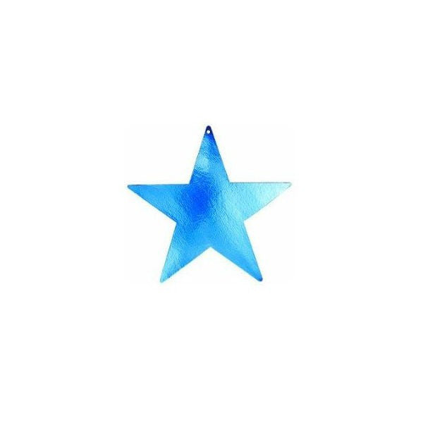 Star Cutouts Blue 85mm Pk12