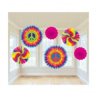 Tye Dye Decorations | Fan Decoration | Hippie