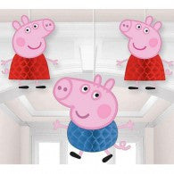 Peppa Pig Honeycomb Hanging Decorations Pk3