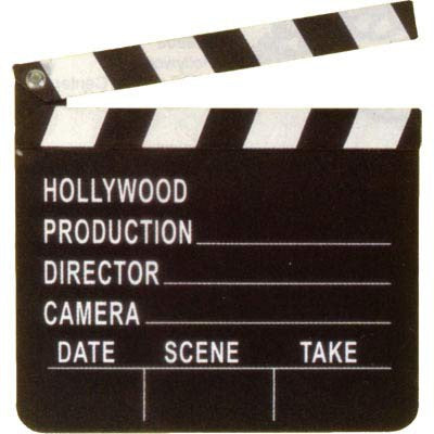 Hollywood - Movie Set Clapboard