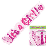Its a Girl Large Banner