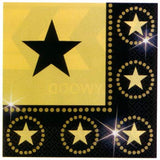 Napkins with Gold Stars Pk16