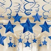 Hanging Stars Decorations | Blue Pk 30