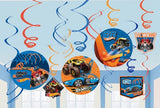 Hot Wheels Hanging Decorations Pk12