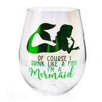 Mermaid | Stemless Wine Glass