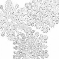 Cutouts Snowflakes Foil - Pack of 4