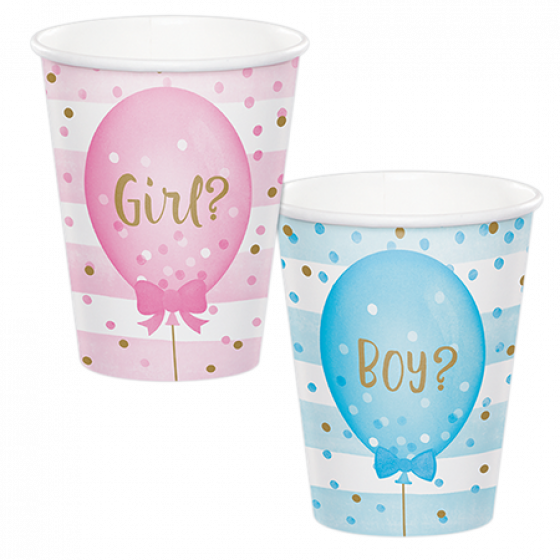Gender Reveal Paper Cups \ Girl or Boy?