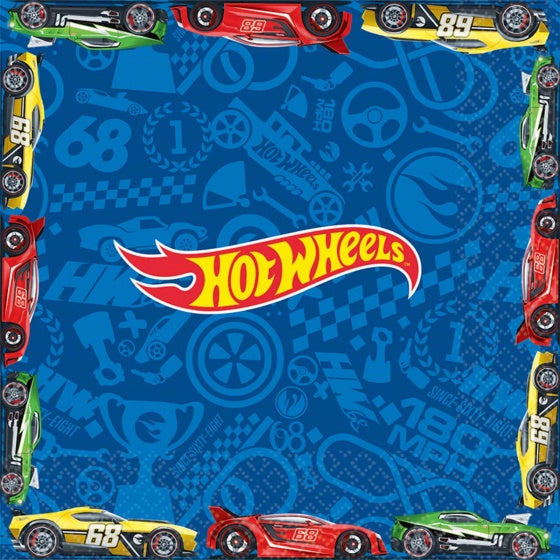 Hot Wheels Napkins | Lunch Pk16
