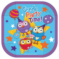 Giggle and Hoot Snack Plates Pk8