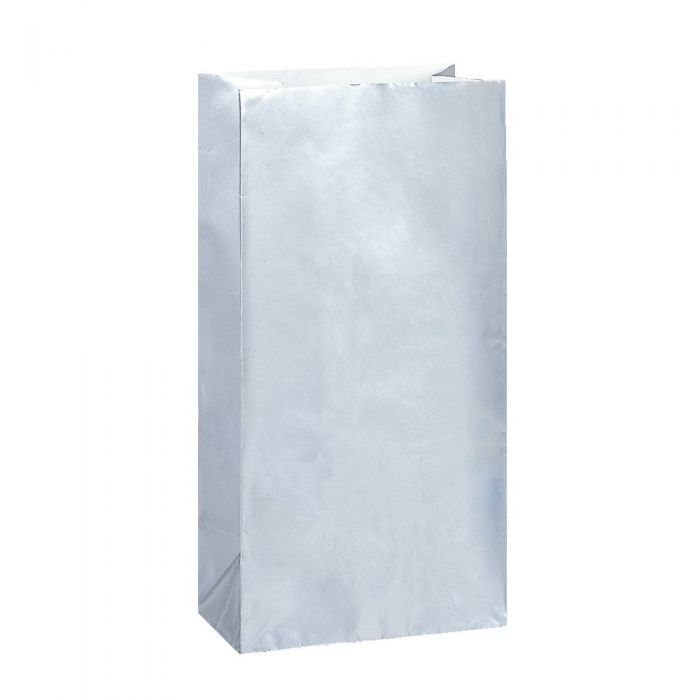 Party Bags | Paper | Metallic Silver | 10pk