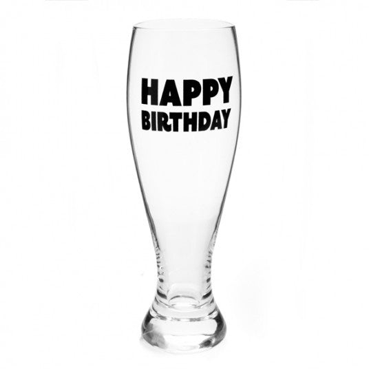 Happy Birthday Beer Glass
