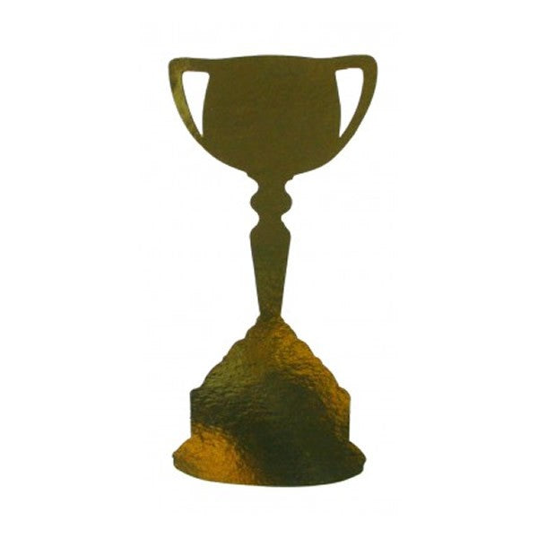 Cutouts Trophy Cup Metallic Gold 30cm Pk12