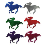 Horse & Rider Cutout Foil Multi 20cm Pack of 12