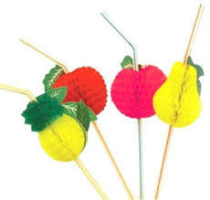Flexi Fruit Straws - Assorted Colours & Designs P50