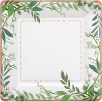 Love & Leaves | Square Plate | Pk8