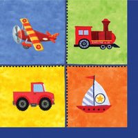 Planes & Trains Beverage Napkins Pk16