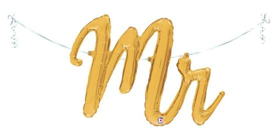 Mr Balloon Script Gold