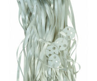 Balloon Ribbon with Clips Pk25 ~ Silver