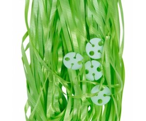 Balloon Ribbon with Clips Pk25 ~ LIME GREEN