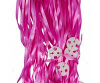 Balloon Ribbon with Clips Pk25 ~ MAGENTA