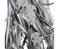Balloon Ribbon with Clips Pk25 ~ METALLIC SILVER