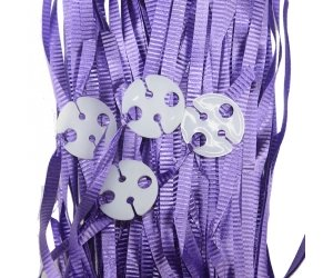 Balloon Ribbon with Clips Pk25 ~ PURPLE
