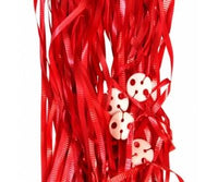 Balloon Ribbon with Clips Pk25 ~ RED