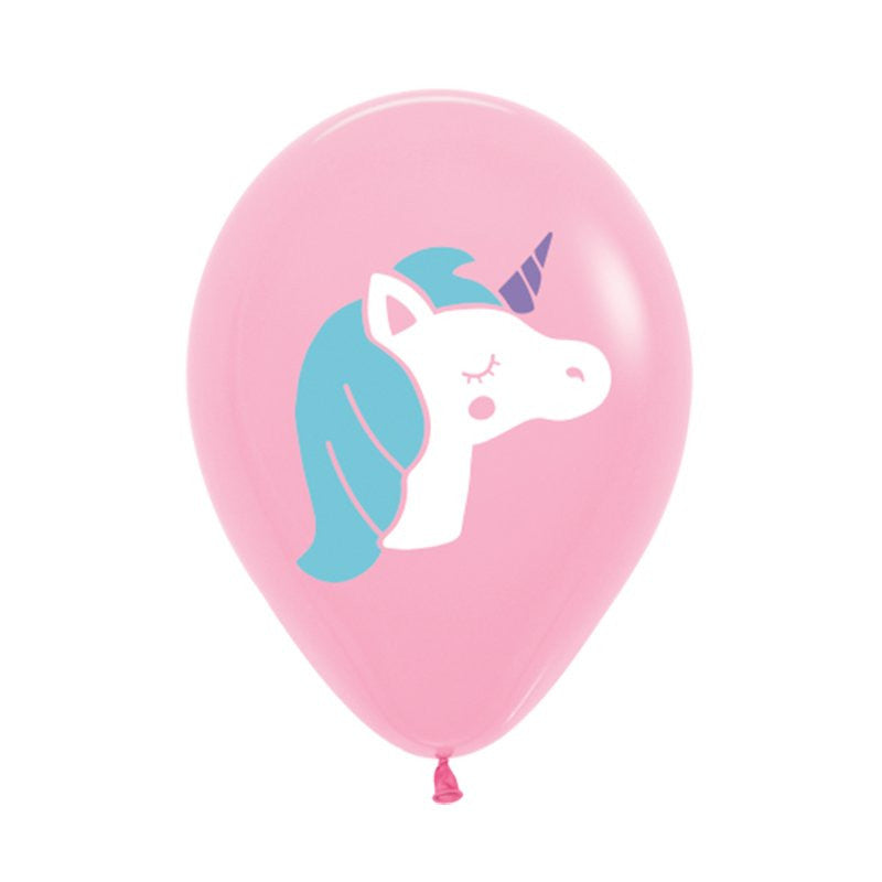 Unicorn Balloons Pink- Single or Pack - Helium Filled or Flat