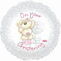 Christening Balloon - Pink with Teddy