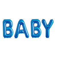 Blue BABY Letter Balloon Foil Kit - Air Fill Only
