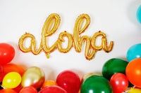 Aloha Balloon Gold Script - Air Fill Only