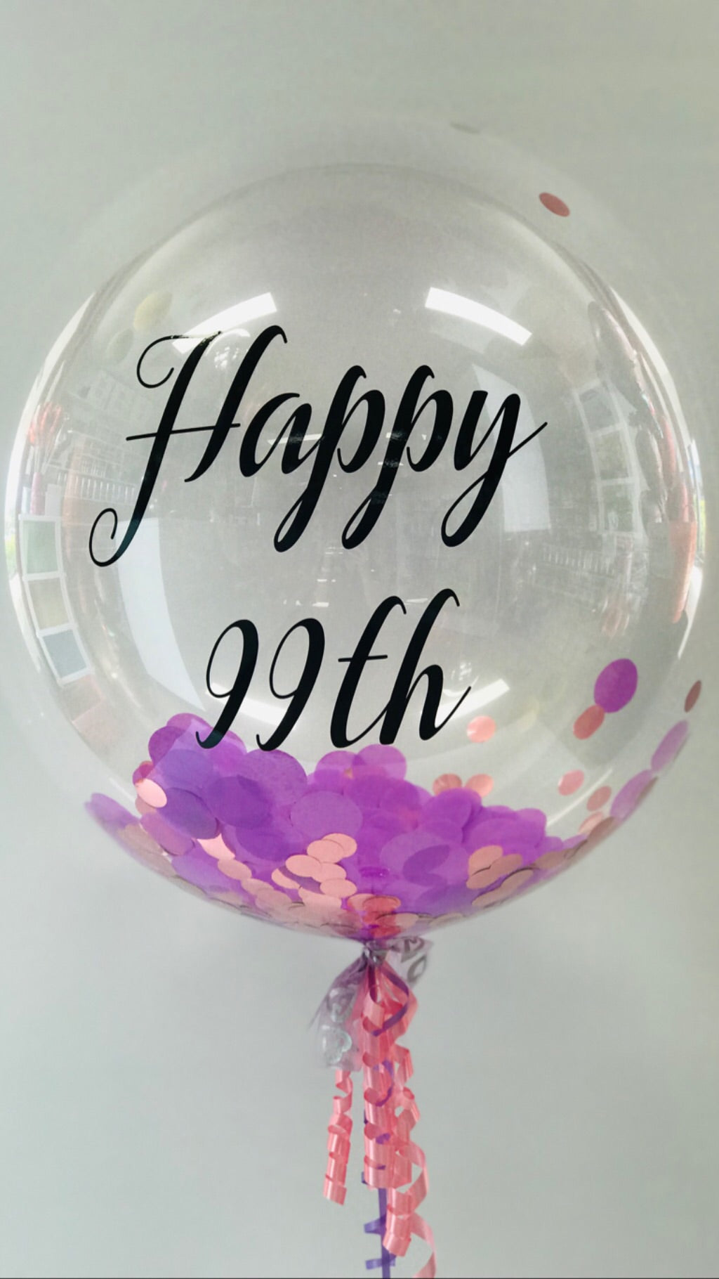 Custom Birthday Balloon With Confetti