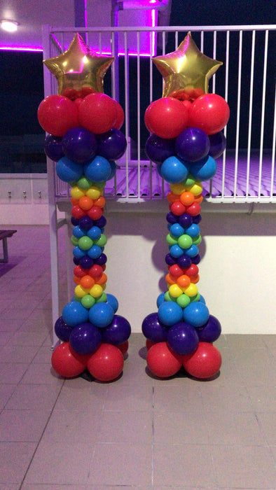 Balloon Pillar - Waisted w/ Sml Star