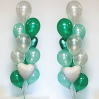 11 Balloon Bouquet with foil heart Each