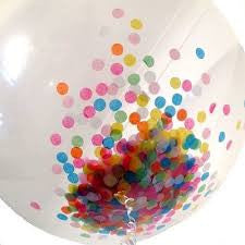 Large Round Confetti Balloons - Choose your colours