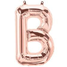Small Letter Balloon B - 41cm Rose Gold - Air filled only