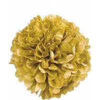 Tissue Paper Puff Ball - Gold