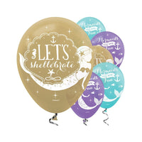 Mermaid Balloons / Lets Shellebrate Pack 6