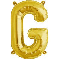 Small Letter Balloon G - 41cm Gold - Air filled only