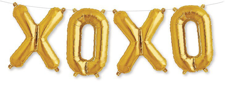 XOXO Foil Balloon Kit - Air Fill Only