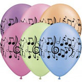 28cm Music Notes Neon Assorted Pk10