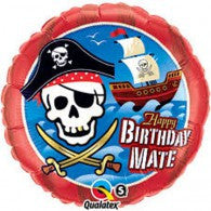 Pirate Happy Birthday Foil Balloon