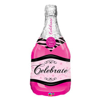 Pink Champagne Bottle Balloon